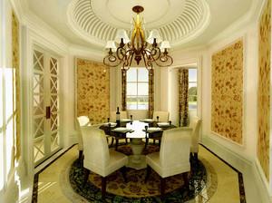 古典欧式风格精致餐厅装修效果图
