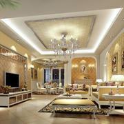 别墅型欧式客厅效果图