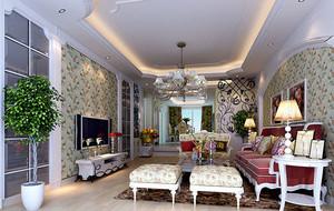 2016年新款欧式风格客厅电视背景墙装修效果图