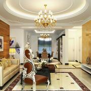 欧式客厅华丽吊灯设计