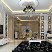 欧式精致客厅整体设计