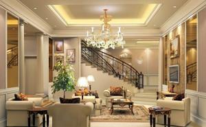 复式楼欧式风格精致客厅装修效果图