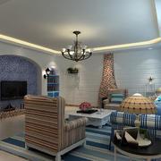 地中海风格客厅吊顶