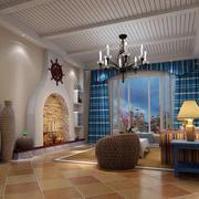 地中海风格客厅装修效果图鉴赏