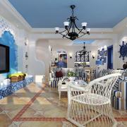地中海风格自然轻快客厅装修效果图