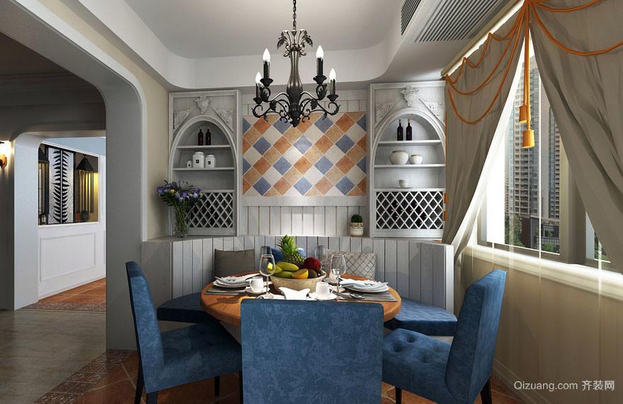 自然舒适轻松地中海风格餐厅设计效果图