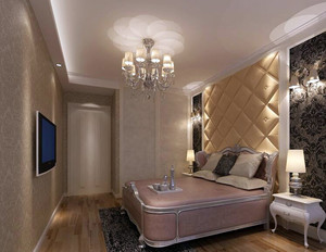 大户型欧式风格卧室背景墙装修效果图鉴赏