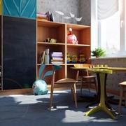 缤纷色彩儿童房效果图