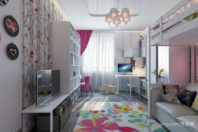 北欧风格自然舒适简约儿童房装修鉴赏