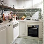 美式田园风格厨房装修效果图赏析