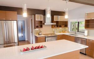 小户型简欧风格厨房吊顶装修效果图实例