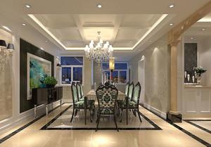 欧式风格精致典雅餐厅背景墙装修效果图大全