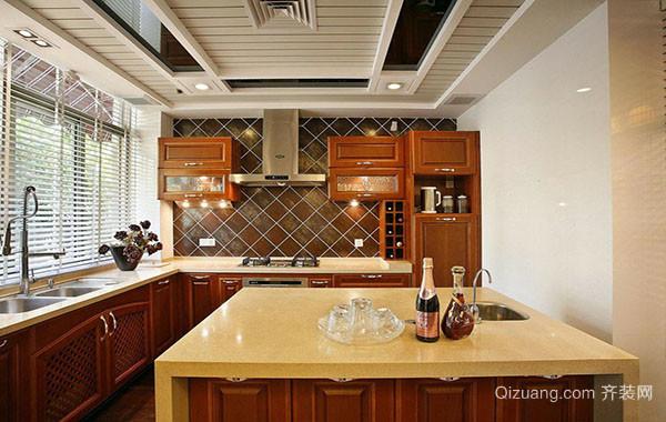 现代中式风格100平米三居室厨房装修效果图