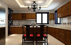 三居室现代中式风格厨房装修效果图