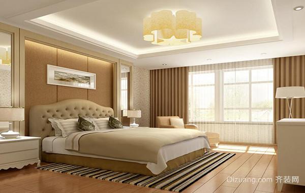 欧式风格大户型精美卧室背景墙装修效果图