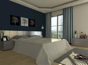 现代简约风格大户型卧室背景墙装修效果图实例
