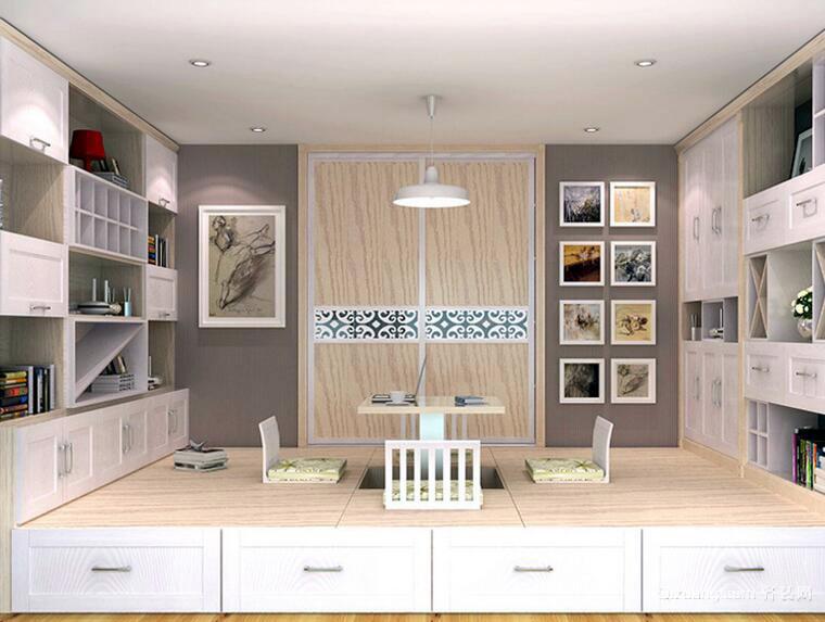 90平米现代卧室室内榻榻米装修效果图