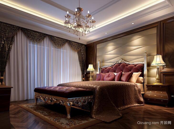 别墅欧式卧室室内设计装修效果图实例