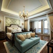 小户型欧式卧室背景墙设计装修效果图实例