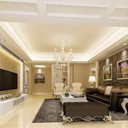 欧式风格大户型客厅设计装修效果图