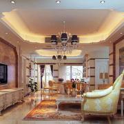 欧式风格大户型客厅吊顶装修效果图