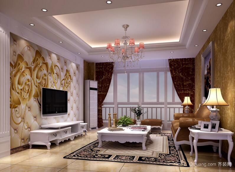 经典的现代欧式客厅室内设计装修效果图