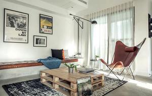 后现代风格简约时尚单身公寓装修效果图
