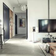 单身公寓客厅电视背景墙装修