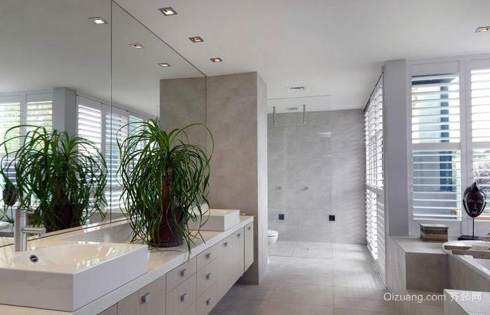 8平米打造现代简约时尚卫生间装修效果图
