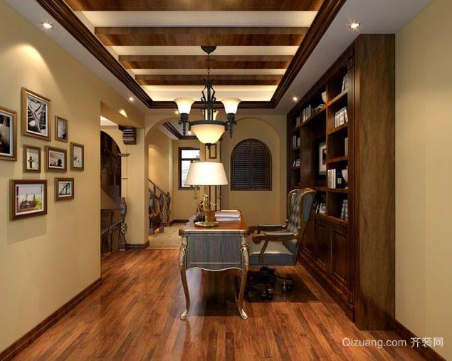美式精致书房装修效果图赏析