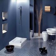 深蓝色调低调简约卫生间装修效果图