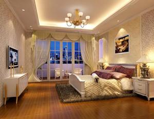 2016欧式别墅型卧室背景墙装修效果图