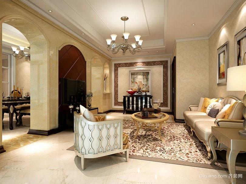 古典欧式风格精致别墅客厅装修效果图