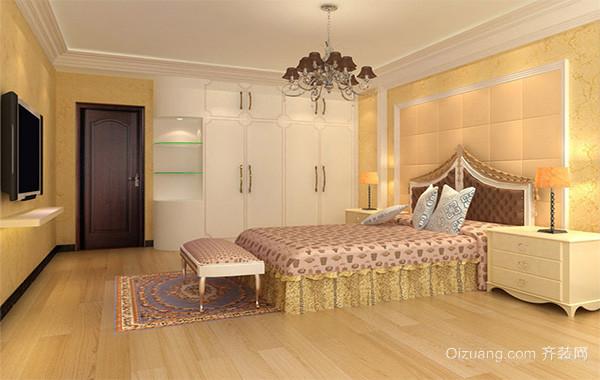 欧式风格大户型卧室背景墙装修效果图