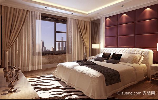 2016别墅型欧式卧室吊顶装修效果图