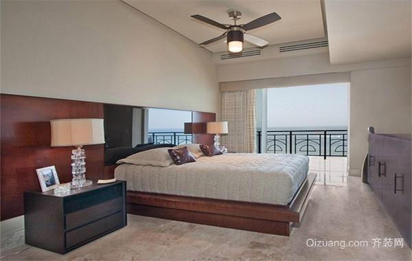 欧式风格别墅型卧室背景墙装修效果图