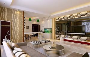 现代简约风格大户型客厅室内设计装修效果图