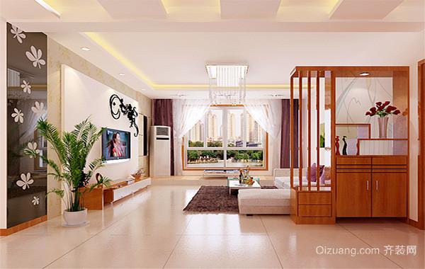 小户型都市精致的客厅背景墙装修效果图实例