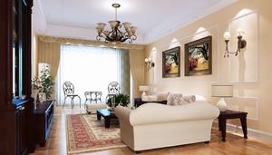 小户型简欧风格精致客厅装修效果图