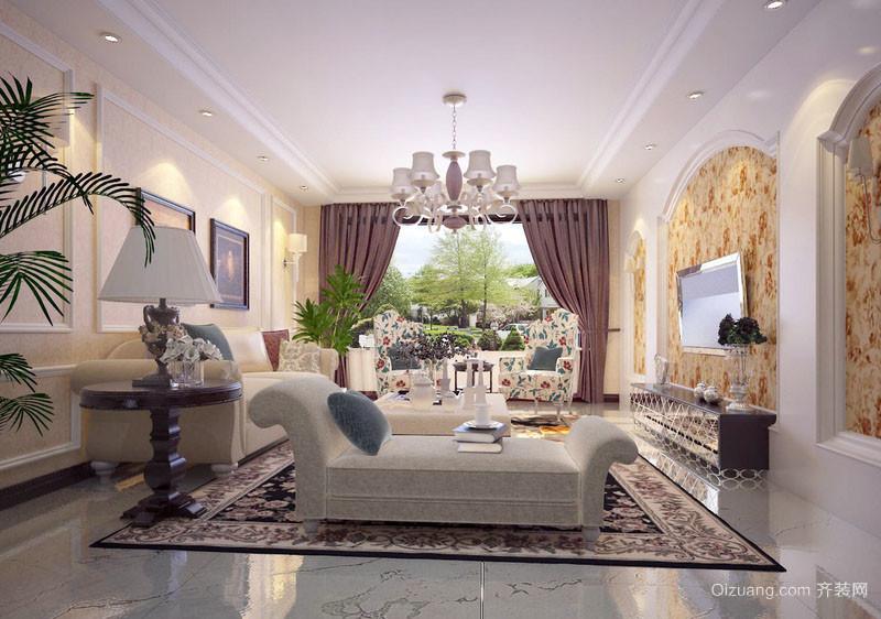 简欧风格大户型精致时尚客厅装修效果图