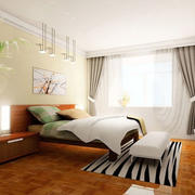 简约时尚卧室背景墙