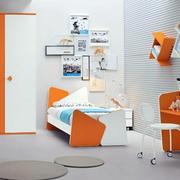橘色鲜活儿童房