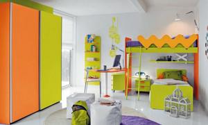 15平米充满时尚创意儿童房装修效果图