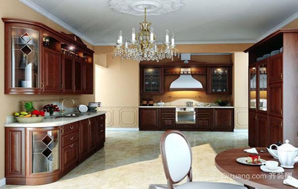 美式厨房大户型精致大厨房装修效果图