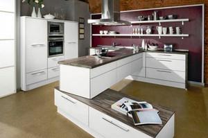 2016年现代简约风格时尚开放式厨房装修效果图赏析