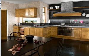 东南亚风格自然色系开放式厨房装修效果图