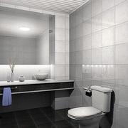 5平米打造现代简约风格卫生间装修效果图
