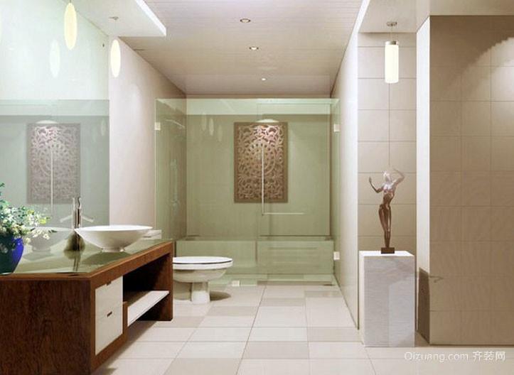 现代美式风格卫生间装修效果图