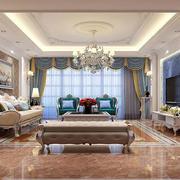 古典欧式风格客厅吊顶设计