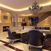 别墅型欧式客厅整体设计